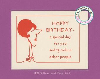 A SPECIAL BIRTHDAY - Funny Birthday Card - Birthday Card - Card - Birthday - Funny Card - Snarky Birthday - Funny Birthday - Item B034