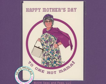 MAMA'S FAMILY Mother's Day Card - Funny Mother's Day Card - Mama's Family - Vicki Lawrence - Pop Culture Card - Mothers Day Card - Item P039