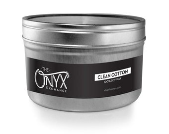 Clean Cotton Scented Candle - 4 oz. Tin Soy Wax Candle - Fresh Linen Candle