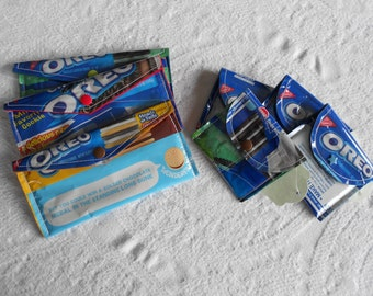 Large or Small OREO WALLET - Sugarless Easter Basket Filler -Valentine Treat - Recycled Oreo Wrapper Snap Wallet - Ready to Ship