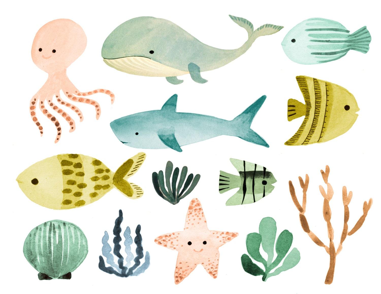 Ocean Clipart Sea Clipart Ocean Animals Clipart