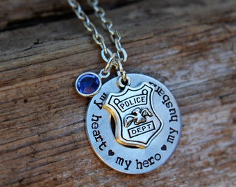 Police necklace etsy aloadofball Gallery