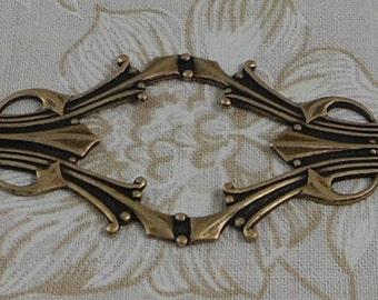 LuxeOrnaments Oxidized Brass Filigree Bracelet Focal 62x28mm (1 pc) F-8170-5-B