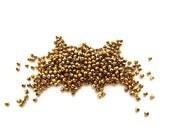434 Metallic Gold Czech Glass Faceted Round Beads