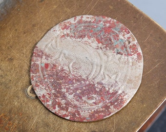Antique plate, decor, part of jewelry, embellishment