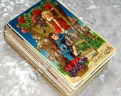 103 Valentine Christmas Humor Birthday Foreign Huge Postcard Lot, Antique Postcards, Embossed, c1905-20s, FREE SHIPPING