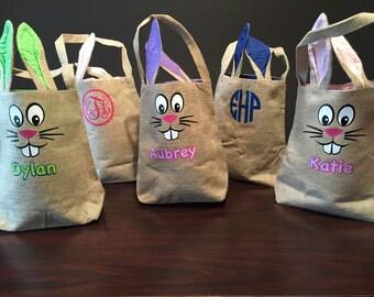 Burlap Bunny Easter Basket
