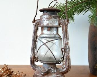 Soviet Vintage Rustic Oil Lamp 50s Interior Design Kerosen Lantern