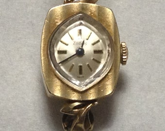 vintage 14 k GOLD ZODIAC ladies watch