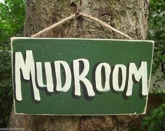 MUD ROOM - Country Rustic Primitive Shabby Chic Wood Handmade Boating Sailing Sign Plaque