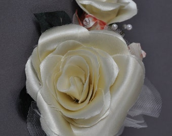 Your wedding dress turned into rose corsage