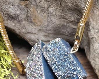 Titanium Treated Druzy Necklace