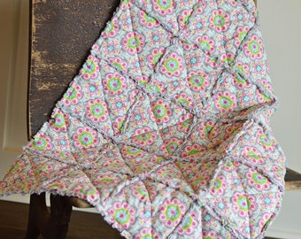 Baby Rag Quilt Modern-FREE SHIPPING