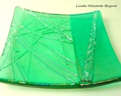 Green Iridescent Soap Dish