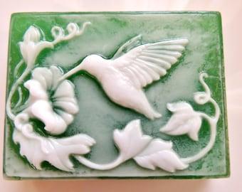 HUMMINGBIRD SOAP, Bird Soap, Hum Me A Song, Hummingbird Soap, Scented in Hummingbird Nectar, All Natural, Vegetable Base