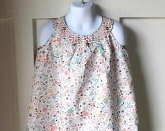 Desert Floral Print A Line Dress Size 4