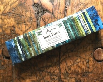 Hoffman Bali Pops, Batik Fabric Strips, BP-617-Organic, FREE Ship USA