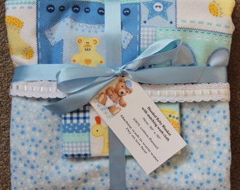 Hooded Baby Blanket with Wash Cloth #14B-932