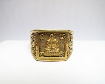 Size 11 (21mm) Ring LP Doo Sakae Temple Thailand Handmade