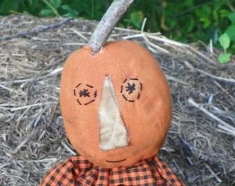 Grungy Pumpkin Head Doll