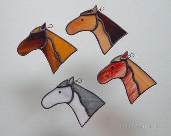 Stained Glass horse ornaments