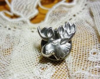 Vintage Moose Elk Tac,Moose Screw Tack