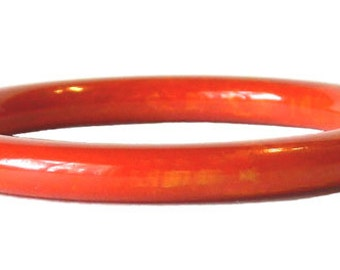 Vintage Red Bakelite Bangle Bracelet
