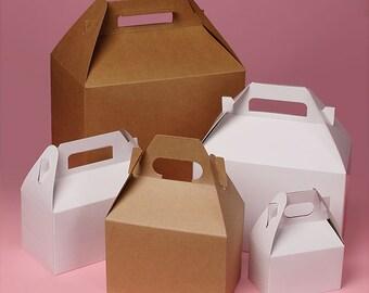 25 Kraft Gable Favor Boxes-  large  Natural Gift Boxes - Party Favor Supplies - DIY Wedding favor Boxes -  Guest Box