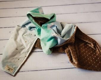 Custom Registry Stroller Blanket For Mackenzie Peake-Pohja, Michael Miller Magic Collection