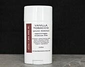 Vanilla Tobacco Vegan Deodorant Tube, Natural Deodorant