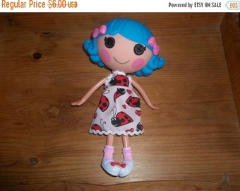Lalaloopsy Doll Dress handmade pink with ladybugs