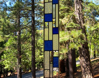 Cobalt Blue Stained Glass Art Strip