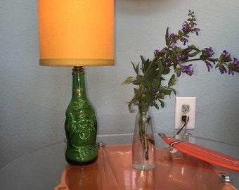 Buddha Beer Bottle Lamp (Yellow Shade)