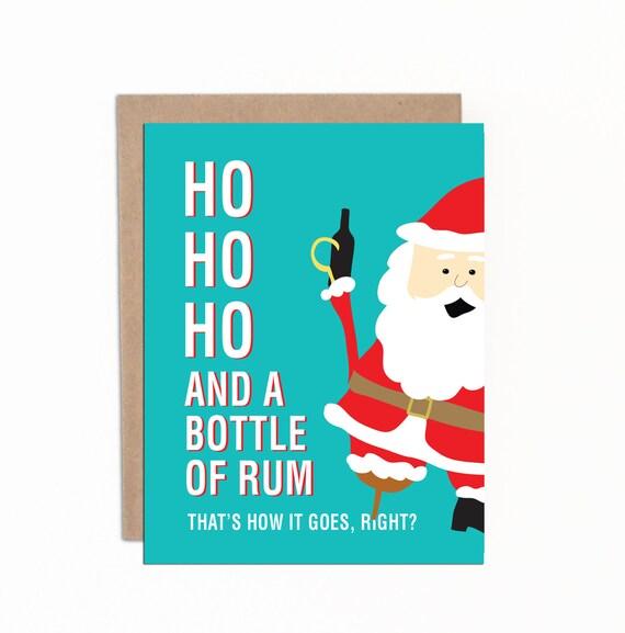 ... Holiday Card | Funny Santa Claus | Pirate Santa | with Kraft Envelopes