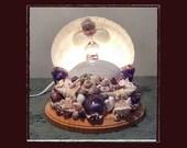 "6.5"" Scallop Sea Shell Table Light, Beach/Coastal/Nautical Decor, Whimsical/Romantic/Accent Light, Wedding/Anniversary/Housewarming Gift"