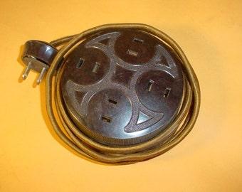 Vintage Colt Extension Plug Coltrock Bakelite by Colt Patent Fire Arms Co. Steampunk light lighting lamp part supplies