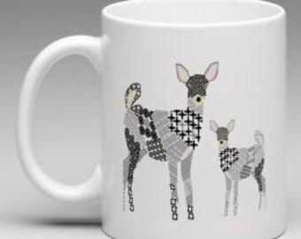 Deer and fawn Mug