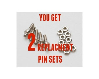 Replacement Pins for 1.8mm  Hole Punch Pliers from EURO TOOL - You Get 2 Pin Sets - 4 Pieces