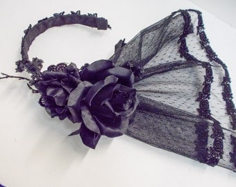 Black Veil Hair Accessory