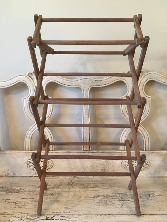 Small Vintage Clothes Drying Rack Collapsable Drying Rack