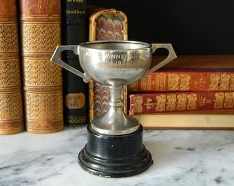 Vintage Miniature Loving Cup Trophy. 1976.