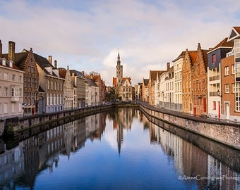 Canal in Brugge, Belgium, Various sizes, Fine Art Photography Print, Landscape Photography, City Photography, Wall Art