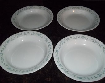4 Corelle Country Cottage Rimmed Cereal Bowls