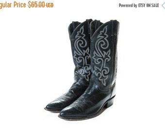 30% OFF JUSTIN Black Cowboy Boots Men's Size 10 .5
