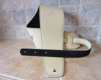 Italia Leather Straps: Guitar Strap, Bass Guitar Strap - Italian Leather - Handmade to order in USA