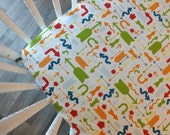 READY TO SHIP-  Which Way Crib Sheet- Fitted Arrow Crib Sheet- Boy Crib Sheet