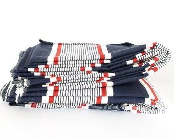 French Mattress ticking tissue Red White and Blue