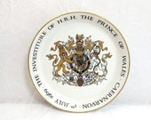 The Prince of Wales Caernarvon 1st July 1969 by Crown Ducal, Collectible Souvenir Dish