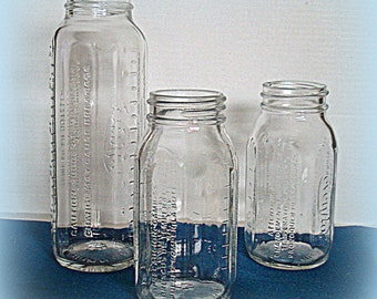 Baby Bottles Heat Breakage Warnings in English Spanish French 3 Glass Evenflo Bottles Made in Mexico