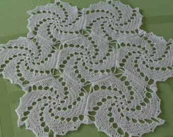 Swirl Doily in White (Crochet)